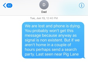 text message to dad